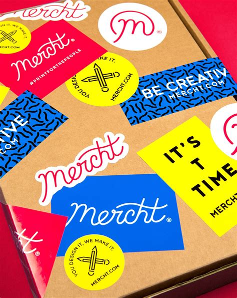 27 Mix Brands Stickers new logo brand identity for mercht by robot food bp o
