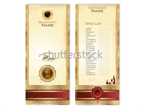 wine list template free wine menu templates 31 free psd eps documents