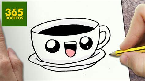 imágenes kawaii fáciles de hacer como dibujar cafe kawaii paso a paso dibujos kawaii