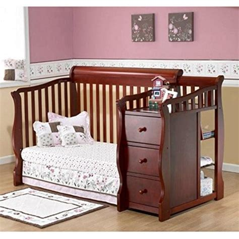 Sorelle Tuscany 4 In 1 Convertible Crib And Changer Combo Sorelle Tuscany 4 In 1 Convertible Crib And Changer Combo