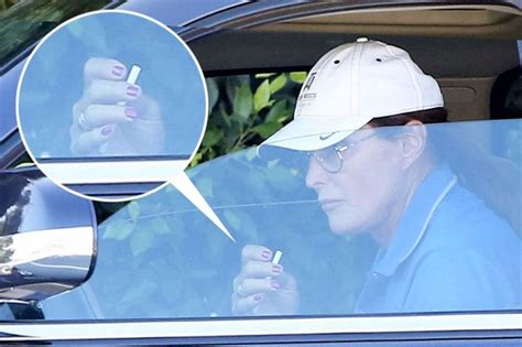bruce jenner makes style statement with nail polish long hair bruce jenner rocks pretty pink nail polish and very long