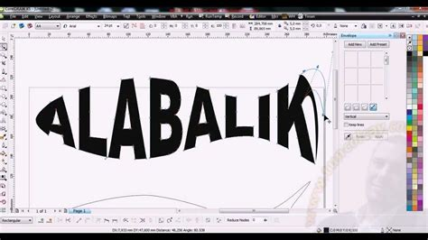 corel draw x7 how to curve text corel envelope coreldraw envelope text yazi by tunc olcay