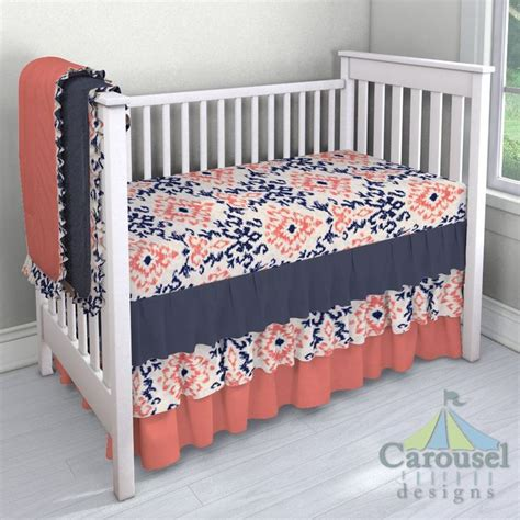 coral and navy crib bedding 25 best ideas about navy and coral bedding on pinterest