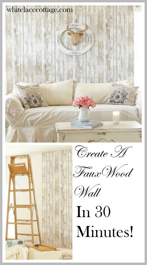 reusable wallpaper reusable wallpaper faux wood accent wall white lace cottage
