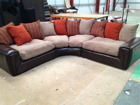 Brand New Scs Quot Border Quot Large Half Leather Fabric Corner Leather Sofas Fabric Sofas Corner Sofas Scs Sofas