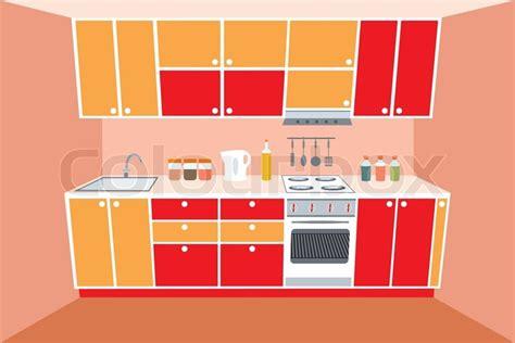 Kitchen Furniture Images kitchen furniture interior stock vector colourbox