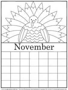 november color education world coloring calendar november version 2
