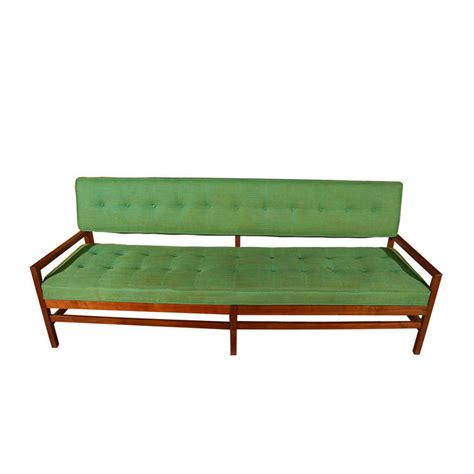 bench type sofa walnut bench style sofa with tufted upholstered seat and