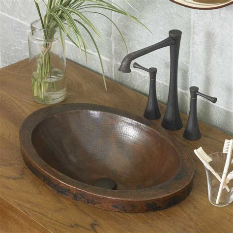 vintage drop in bathroom sinks native trails 21 quot x 14 quot hibiscus drop in bathroom
