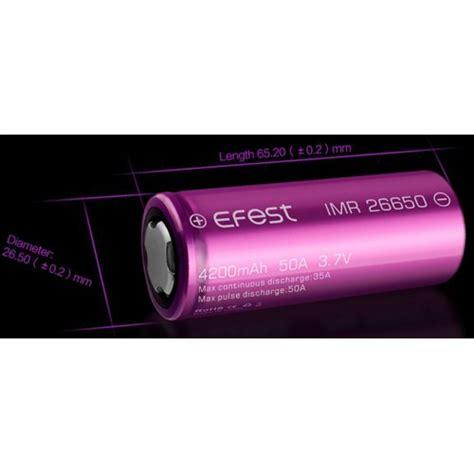Efest Imr 26650 Battery 4200mah 3 7v 50a Flat Top 26650v1 Purple Ungu efest imr 26650 4200mah 50a flat top battery