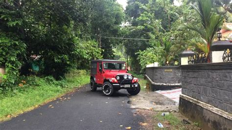 thar jeep modified in kerala mahindra thar in monsoons kerala modified