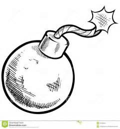 retro bomb drawing stock image image 22499891