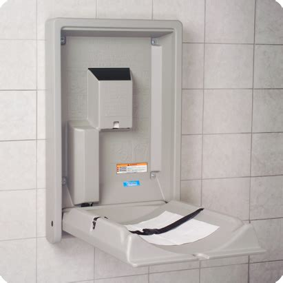 Baby Changing Station Wall Mounted - kb101 vertical wall mounted baby changing station