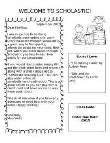 Parent Letter Scholastic Book Club Scholastic Parent Letter By Mrs Mccarthy Teachers Pay Teachers