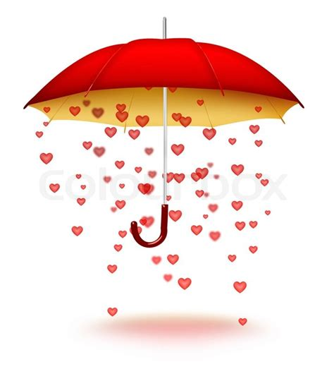 heart pattern umbrella umbrella with hearts stock photo colourbox