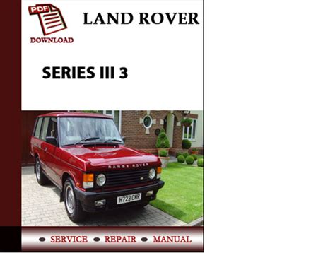 service repair manual free download 1987 land rover range rover instrument cluster range rover classic 1987 1988 1989 1990 1991 workshop service repai