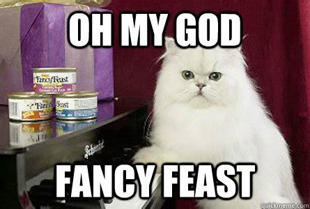 Fancy Feast Meme - oh my god fancy feast ohmygodcat quickmeme
