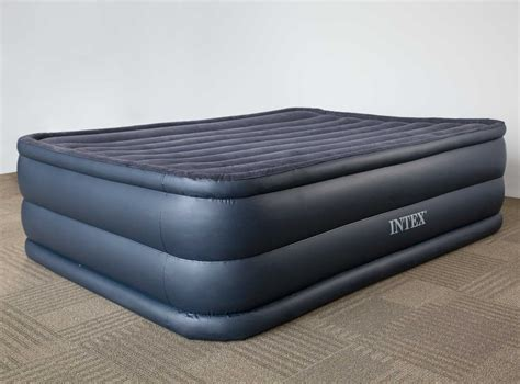 intex raised downy cing air mattress bed with built in ebay
