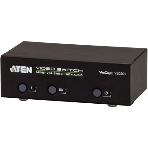 Switch Vga Aten aten vs0201 2 port vga switch with audio vs0201 b h photo