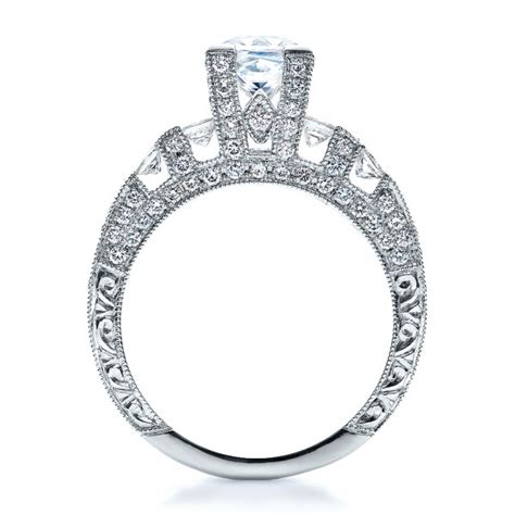 princess cut side stones engagement ring vanna k 100057