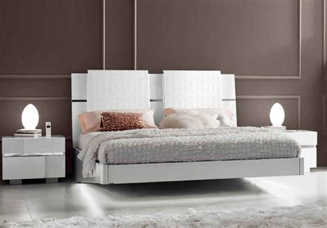Platform Bed With Headboard Lacquered Made In Italy Wood Modern Platform Bed With