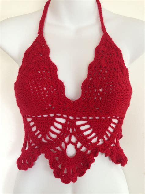 Crochet Bra crochet bra festival crochet top tank top top