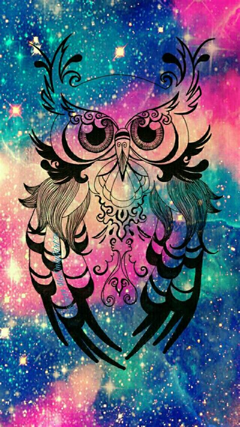wallpapers galaxy vintage vintage owl galaxy wallpaper i created for the app cocoppa