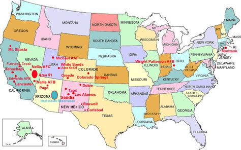 map of us underground tunnels locations of underground bases in america