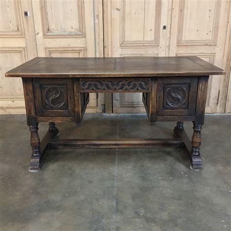 antique oak desk with leather top inessa stewart