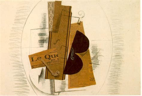 braque collage violin and pipe le quotidien georges braque wikiart