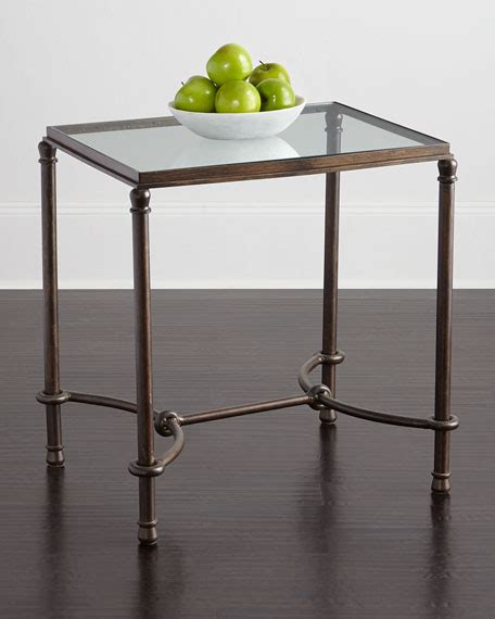 glass top end tables hanigan glass top end table neiman