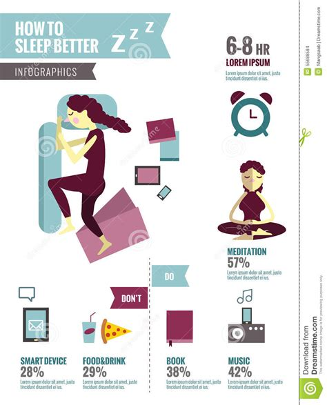 how to get better in bed how to sleep better stock vector image 55688584