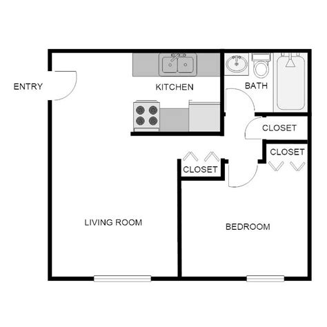 650 sq ft apartment floor plan 1 bedroom 1 bath apartment biscayne apartments