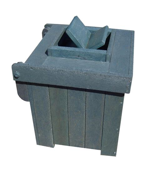 Monkey Proof Dustbin With Lid (Small) ? Mctimber Structres