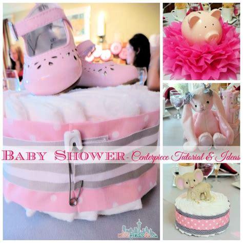 baby shower ideas diaper cake centerpiece tutorial baby