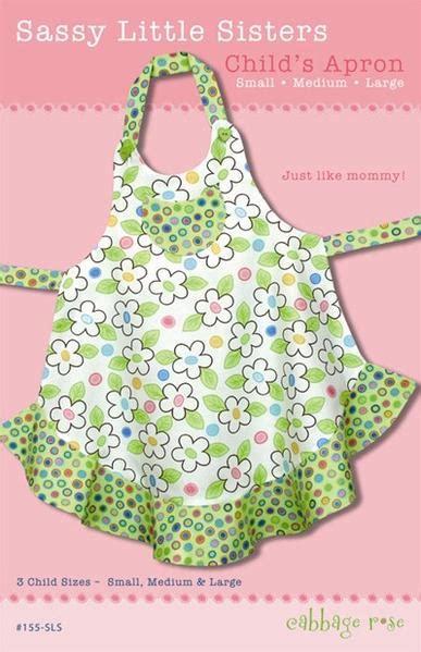 apron jazz pattern sassy little sisters apron printed pattern cabbage rose