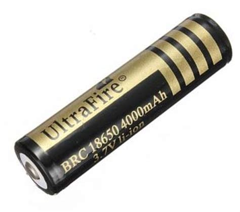 Baterai Ultrafire 3 7v 4000mah ultrafire brc 18650 4000mah battery 3 7v with pcb and