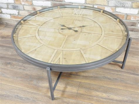 Clock Coffee Tables Large Wooden Clock Coffee Table Melody Maison 174