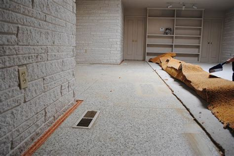 Updated Kitchen Cabinets by Is There Beautiful Terrazzo Flooring Under All The Carpet