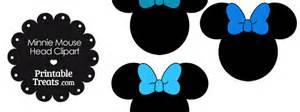 minnie mouse head clipart with blue bows