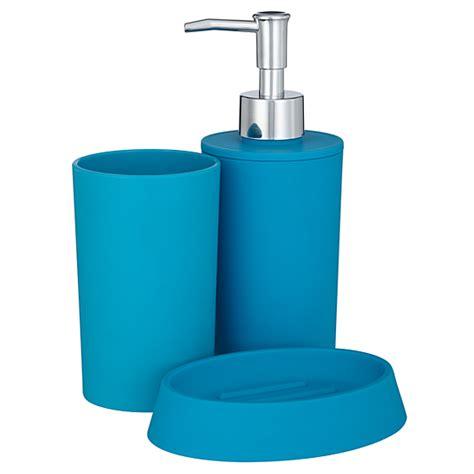 george home accessories soft touch turquoise bathroom