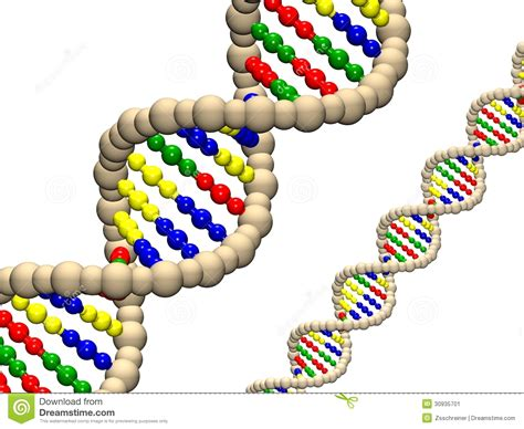 dna colors dna illustration 3d background stock illustration