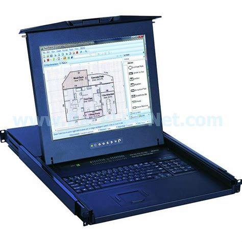 Rackmount Lcd Monitor 1u 17 quot rack mount lcd monitor keyboard drawer with 8 port combo db 15 kvm switch lmk1b17