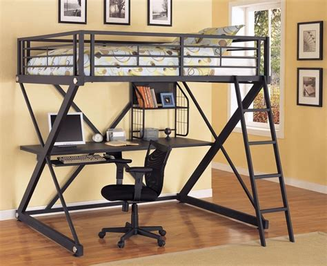 black loft bed with desk loft bed with desk black ebay