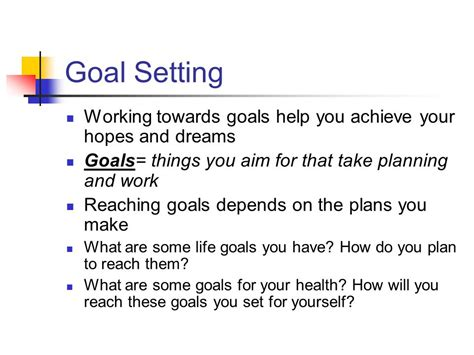 planning your dreams making responsible decisions and goals ppt video online
