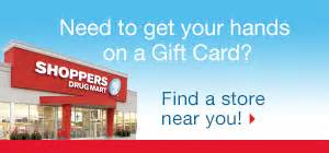 Does Shoppers Drug Mart Sell Gift Cards - gift cards