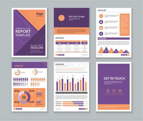 Report Layout Design Free Download | page cover brochure flyer report layout design template