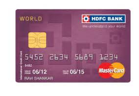 Credit Card Number Format Mastercard World Mastercard Credit Card Exclusive International Credit Card Hdfc Bank