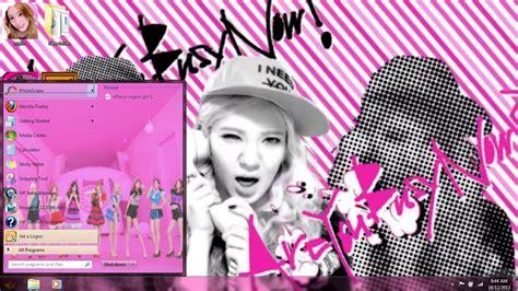 kpop pc themes snsd beep win7 theme my kpop pc