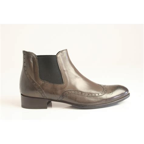 grey leather boots ankle boot d178 in grey leather from nicholas thomson uk